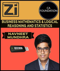 CA Foundation Business Mathematics and Logical Reasoning and Statistics By Navneet Mundhra - Zeroinfy