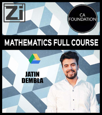 CA Foundation Mathematics Full Lectures with Books By Prof Jatin Dembla - Zeroinfy