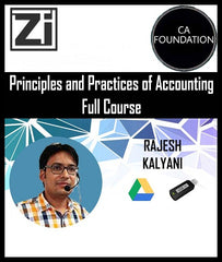 CA Foundation Principles and Practices of Accounting Full Course by Rajesh Kalyani - Zeroinfy
