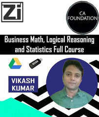CA Foundation Business Math, Logical Reasoning and Statistics Full Course by Vikash Kumar - Zeroinfy