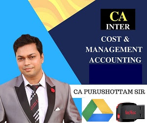 CA Inter Cost and Managenement Accounting New Syllabus by Purushottam Aggarwal(PenDrive) - Zeroinfy
