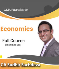 CMA Foundation Economics Only Video Lectures By CA Sudhir Sachdeva - Zeroinfy