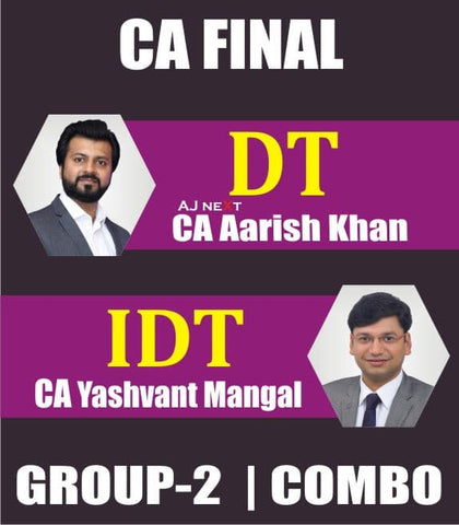 CA Final (New) Direct Tax Laws and Indirect Tax Fast Track Combo By Aarish Khan & Yashwant Mangal - Zeroinfy