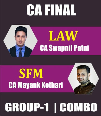 CA Final (New) Corp. & Eco. Law and SFM Fast Track Combo By Swapnil Patni & Mayank Kothari - Zeroinfy