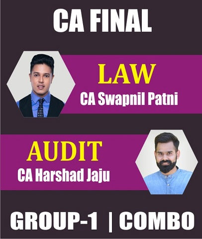 CA Final Law and Audit Fast Track Course Combo By Swapnil Patni & Harshad Jaju (Old) - Zeroinfy