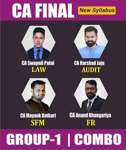 CA Final (New) Gr 1 Full Course Combo By Swapnil Patni, Harshad Jaju, Mayank Kothari & Anand Bh. - Zeroinfy