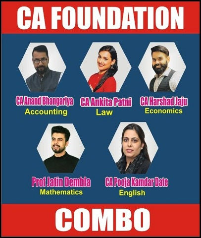 CA Foundation All Subjects Combo with By Swapnil Patni Classes - Zeroinfy