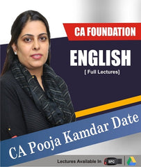 CA Foundation English Only Full Lectures By CA Pooja Kamdar Date