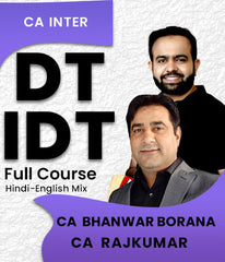 CA Inter DT IDT Full Course Combo By CA Bhanwar Borana and CA Rajkumar - Zeroinfy