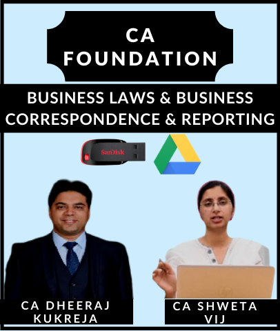 CA Foundation Business Laws & Business Correspondence and Reporting By Dheeraj Kukreja & Shweta Vij