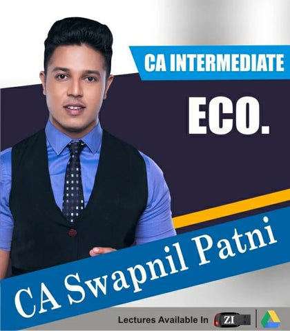 CA Intermediate Economic For Finance Full Course Video Lectures with Books By CA Swapnil Patni - Zeroinfy