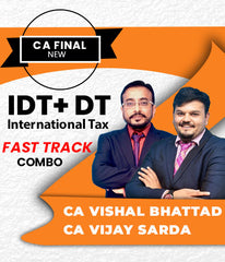 CA Final IDT, DT and International Tax Combo Super 35 by Vishal Bhattad and Vijay Sarda - Zeroinfy