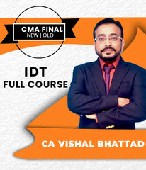 CMA Final IDT Full Course Video Lectures By CA Vishal Bhattad - Zeroinfy