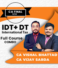 CA Final IDT, DT and International Tax Full Course Combo by Vishal Bhattad and Vijay Sarda - Zeroinfy