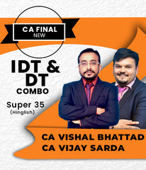 CA FINAL IDT+DT Combo Super 35 Fast Track By Vishal Bhattad and Vijay Sarda (HINDI) - Zeroinfy