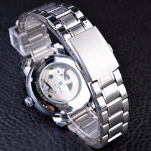 Load image into Gallery viewer, Men's Blue Ocean Stainless Steel Skeleton Automatic Watch