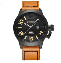 Load image into Gallery viewer, Curren Chronometer Men's Leather Band Strap Watch
