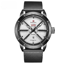 "Load image into Gallery viewer, NAVIFORCE ""Wheel"" Luxury Sport Watch Mesh Band"