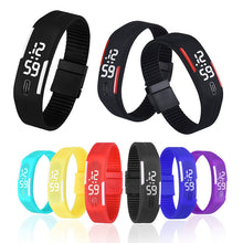 Load image into Gallery viewer, Rubber LED Sport Bracelet Digital Watch
