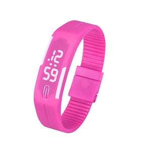 Rubber LED Sport Bracelet Digital Watch