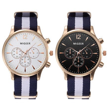 "Load image into Gallery viewer, MiGEER ""Cruiser"" Stripe Quartz Watch"