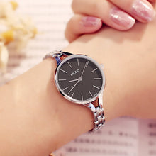 "Load image into Gallery viewer, KEZZI ""Silk"" Women Waterproof Stainless Steel Quartz Bracelet Watch"