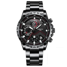 "Load image into Gallery viewer, NIBOSI Men's ""Pilot"" Chronograph Stainless Steel Watch"