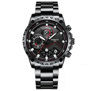 "NIBOSI Men's ""Pilot"" Chronograph Stainless Steel Watch"