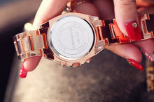 "Load image into Gallery viewer, Rose Gold ""Empress"" Women's Quartz Rhinestone Watch"