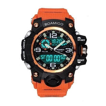 "Load image into Gallery viewer, BOAMIGO ""Agile"" Digital LED Waterproof Rubber Watch"