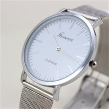"Load image into Gallery viewer, Geneva Women's ""Chard"" Quartz Mesh Stainless Steel Watch"