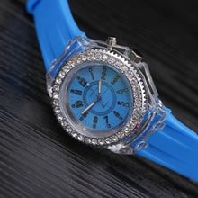 "Load image into Gallery viewer, LED Luminous ""Glow Baby Glow"" Silicone Watch"