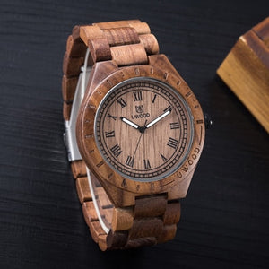 Natural Black Sandal Wood UWOOD Japan MIYOTA Quartz Movement Wooden Watch