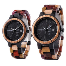 Load image into Gallery viewer, BOBO BIRD Wood Auto Date Men Quartz Watch B-P14-1