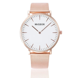 MiGEER Women's Elegant Stainless Steel Band Quartz Watch