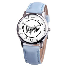 Load image into Gallery viewer, Musical Note Leather Band Quartz Women's Watch