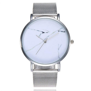 CCQ Casual Quartz Stainless Steel Band Marble Face Watch