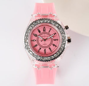 "LED Luminous ""Glow Baby Glow"" Silicone Watch"