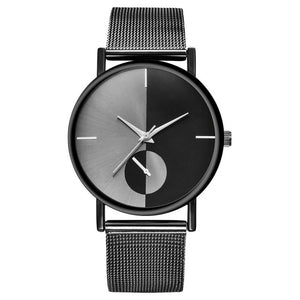 Fashion Quartz Stainless Steel Band Women's Watch