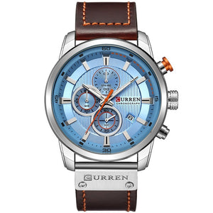 "Curren ""Camelot Luxury"" Chronograph Leather Band"