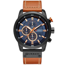 "Load image into Gallery viewer, Curren ""Camelot Luxury"" Chronograph Leather Band"