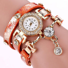 Load image into Gallery viewer, DUOYA Women's Crystal Pendant Bracelet Watch