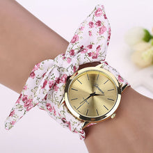 "Load image into Gallery viewer, Geneva ""Goddess"" Jacquard Floral Quartz Women's Watch"