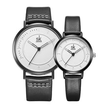 "Load image into Gallery viewer, Shengke ""Zen"" Analog Quartz Leather Watch"