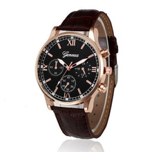 "Load image into Gallery viewer, Geneva ""Avenue"" Luxury Quartz Leather Band Men's Watch"