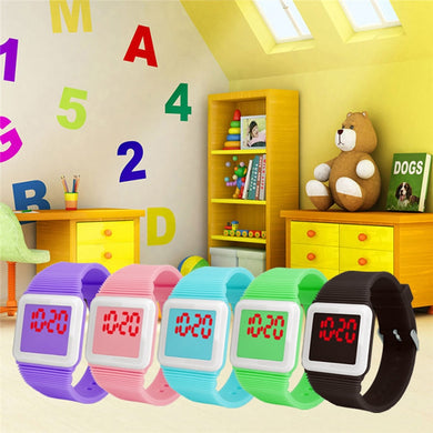 Electronic Digital LED Silicone Watch For Kids
