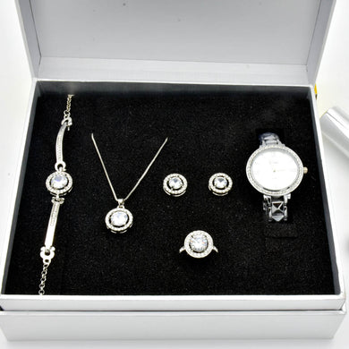 Luxury Quintet Steel Rhinestone Gift Set
