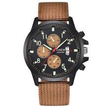 Load image into Gallery viewer, XINEW Men's Military Steel Quartz Analog Army Watch