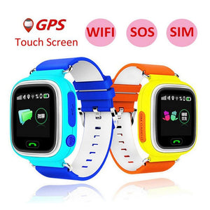 Q90 GPS Smartwatch Children Kids Smart Wrist Watch 1.22 Inch Color Touch Screen WIFI SOS Call Smart Watch PK Q80 Q50 Q60