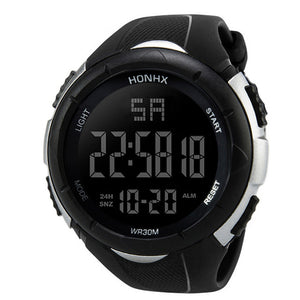 "HONHX ""Pursuit"" Digital LED Waterproof Men's Watch"
